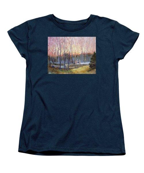 Sunset Trees Women's T-Shirt (Standard Cut)