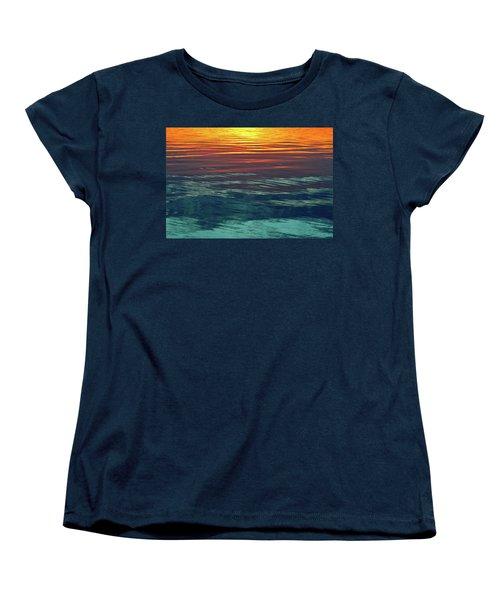 Sunset Water  Women's T-Shirt (Standard Cut) by Lyle Crump
