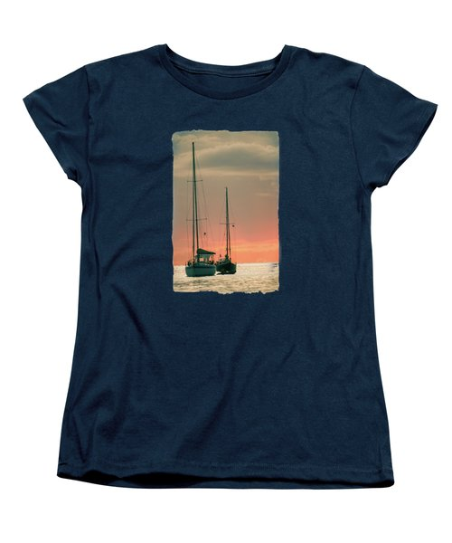 Sunset Yachts Women's T-Shirt (Standard Cut) by Konstantin Sevostyanov