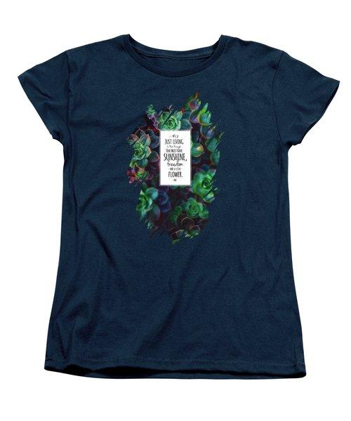 Sunshine, Freedom, Flower Women's T-Shirt (Standard Cut) by Atelier Seneca