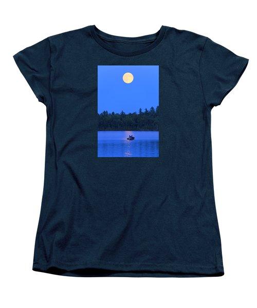 Super Moon At The Lake Women's T-Shirt (Standard Cut)