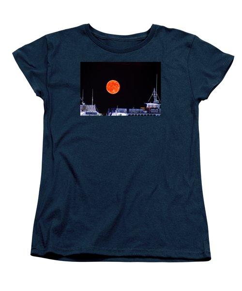 Women's T-Shirt (Standard Cut) featuring the photograph Super Moon Over Crazy Sister Marina by Bill Barber