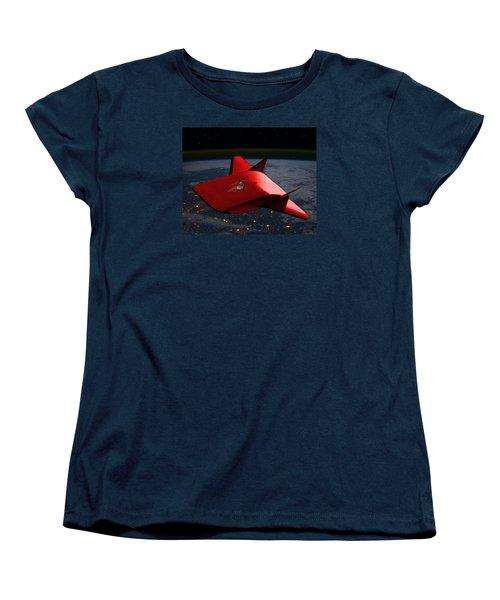 Women's T-Shirt (Standard Cut) featuring the digital art Super Sleigh by Walter Chamberlain