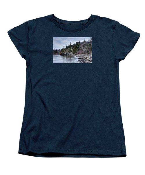 Women's T-Shirt (Standard Cut) featuring the photograph Superior Cliffs by Larry Ricker