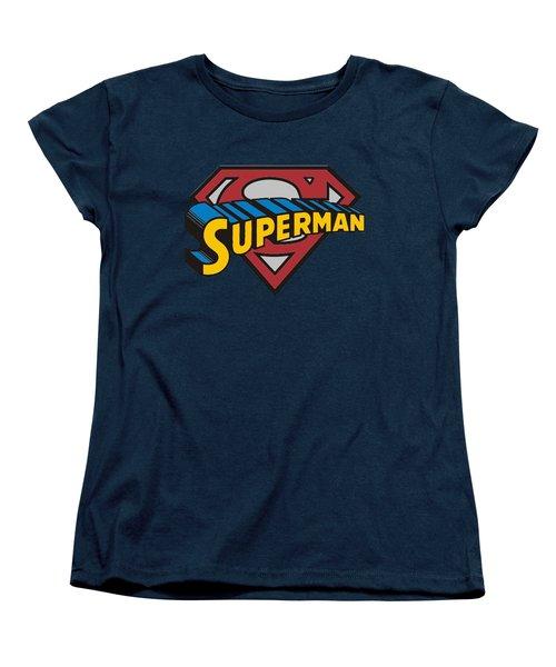 Superman T-shirt Women's T-Shirt (Standard Cut) by Herb Strobino