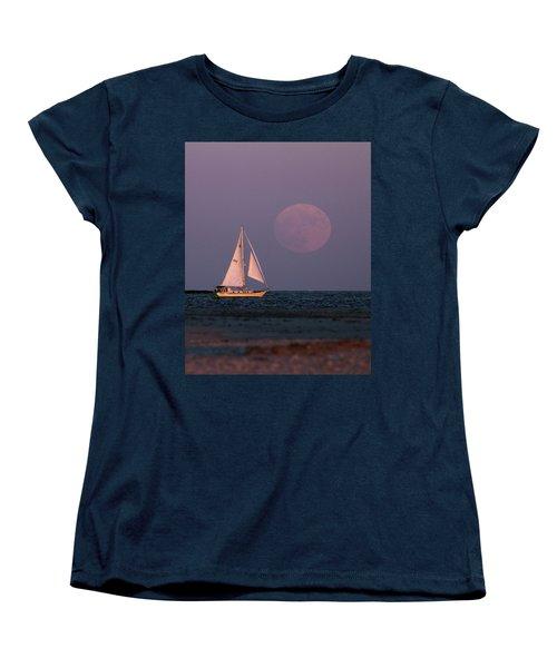 Supermoon Two Women's T-Shirt (Standard Cut) by John Loreaux