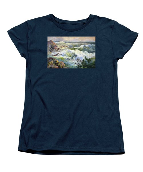 Surf Action Women's T-Shirt (Standard Cut) by Rae Andrews