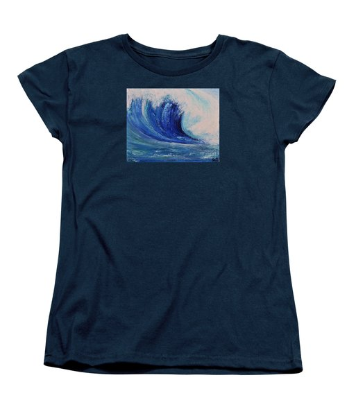 Women's T-Shirt (Standard Cut) featuring the painting Surf by Teresa Wegrzyn