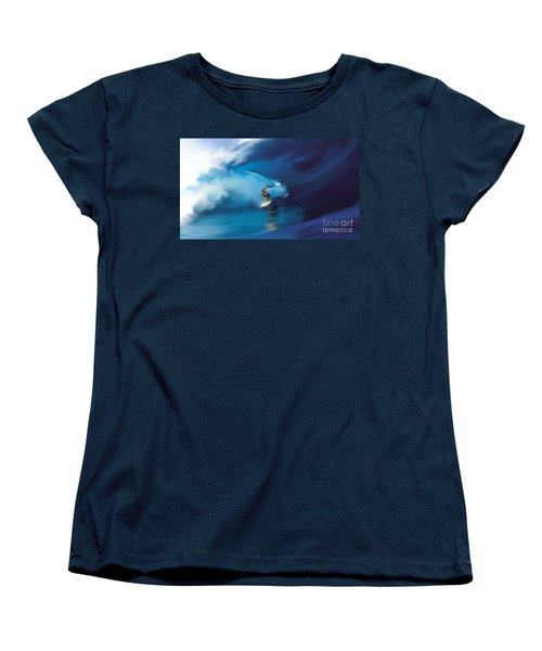 Women's T-Shirt (Standard Cut) featuring the digital art Surfers Playground by Anthony Fishburne