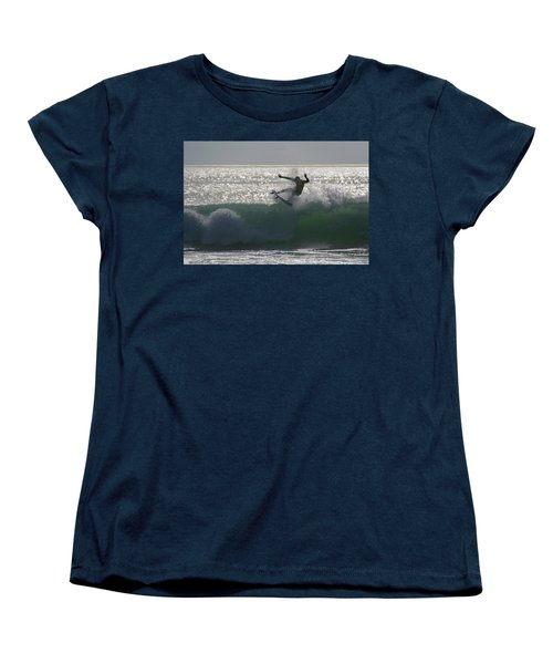 Women's T-Shirt (Standard Cut) featuring the photograph Surfing The Light by Thierry Bouriat