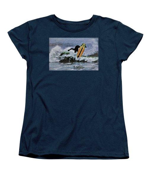 Surfs Up Women's T-Shirt (Standard Cut) by B Wayne Mullins
