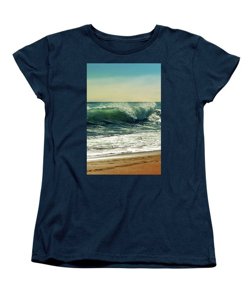 Women's T-Shirt (Standard Cut) featuring the photograph Surf's Up by Laura Fasulo
