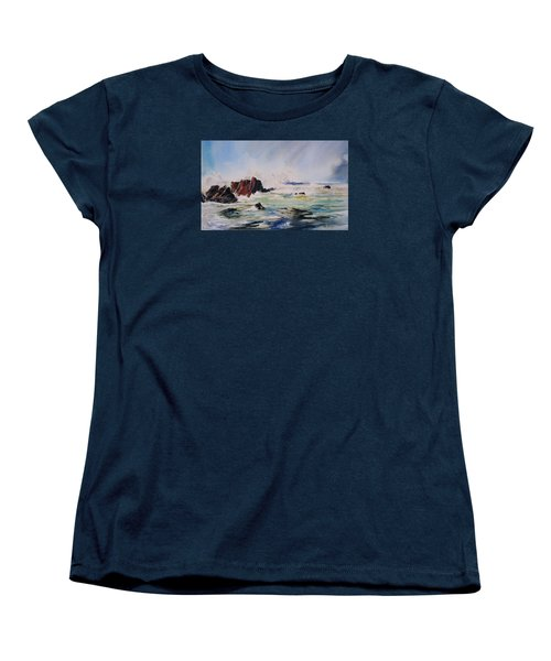 Surf's Up Women's T-Shirt (Standard Cut) by P Anthony Visco