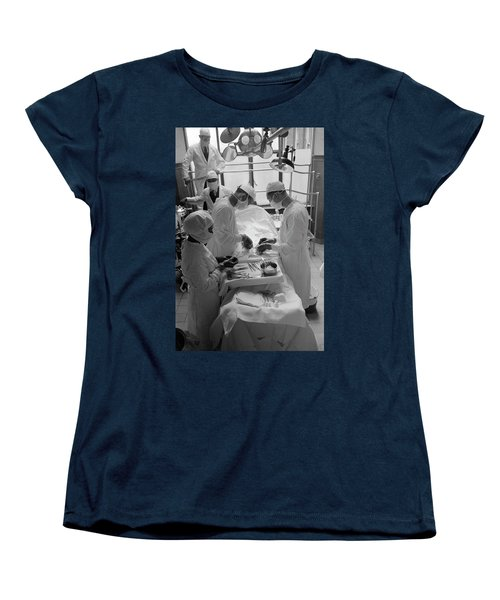 Women's T-Shirt (Standard Cut) featuring the photograph Surgical Theater - Chicago 1941 by Daniel Hagerman