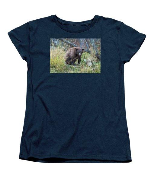 Surprised Bear Women's T-Shirt (Standard Cut) by Scott Warner