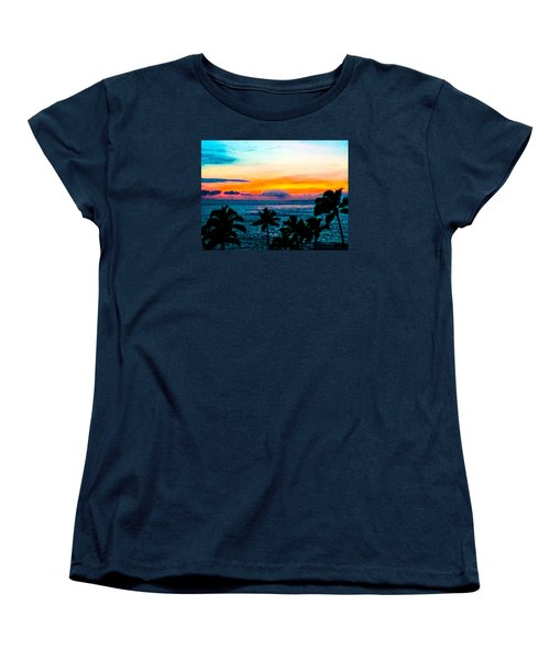 Surreal Sunset Women's T-Shirt (Standard Cut) by Russell Keating