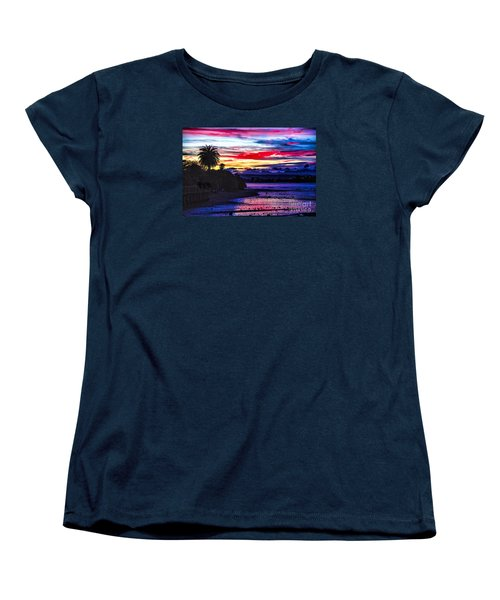 Women's T-Shirt (Standard Cut) featuring the photograph Suset Beach by Rick Bragan