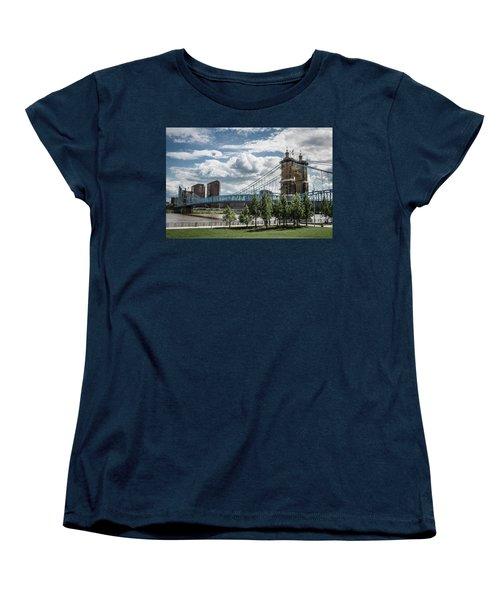 Suspension Bridge Color Women's T-Shirt (Standard Cut) by Scott Meyer