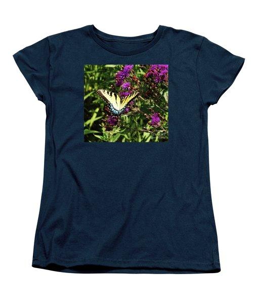 Swallowtail On Butterfly Weed Women's T-Shirt (Standard Cut) by J L Zarek