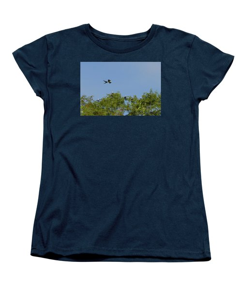 Swallow-tailed Kite Flyover Women's T-Shirt (Standard Cut) by Paul Rebmann