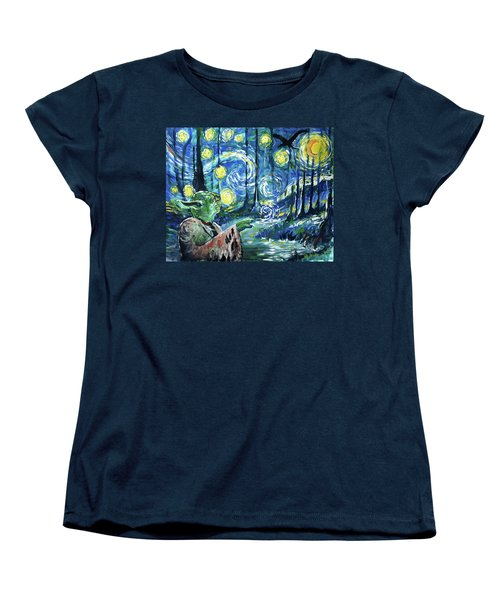 Swampy Night Women's T-Shirt (Standard Cut) by Tom Carlton