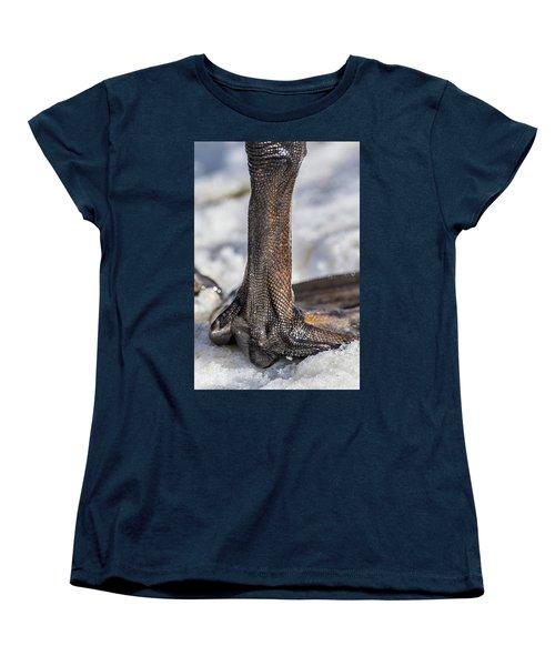 Women's T-Shirt (Standard Cut) featuring the photograph Swan Leg by Paul Freidlund