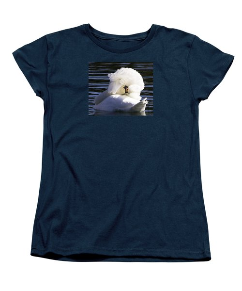 Women's T-Shirt (Standard Cut) featuring the photograph Swan Prince by Cathy Donohoue