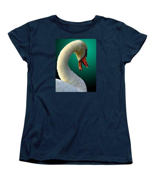 Women's T-Shirt (Standard Cut) featuring the photograph Swan Radiance by Brian Stevens