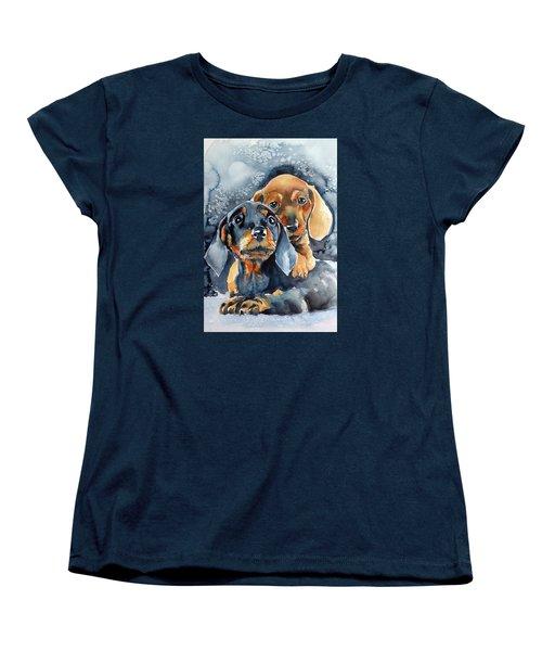 Sweet Little Dogs Women's T-Shirt (Standard Cut) by Kovacs Anna Brigitta