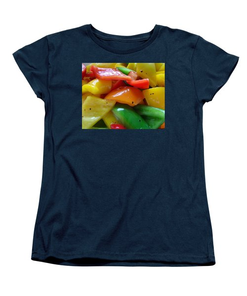 Women's T-Shirt (Standard Cut) featuring the digital art Sweet Peppers by Jana Russon