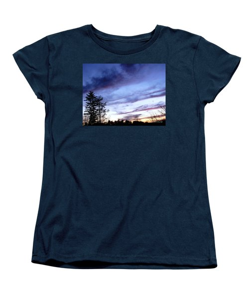 Swept Sky Women's T-Shirt (Standard Cut) by Melissa Stoudt