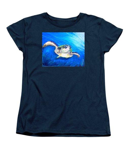 Swim Women's T-Shirt (Standard Cut) by Dawn Harrell