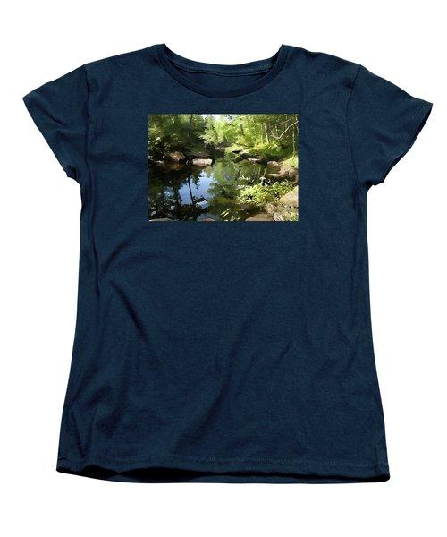 Swimmin' Hole Women's T-Shirt (Standard Cut) by Betsy Zimmerli