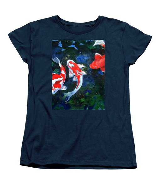 Swimming In Peace Women's T-Shirt (Standard Cut) by T Fry-Green