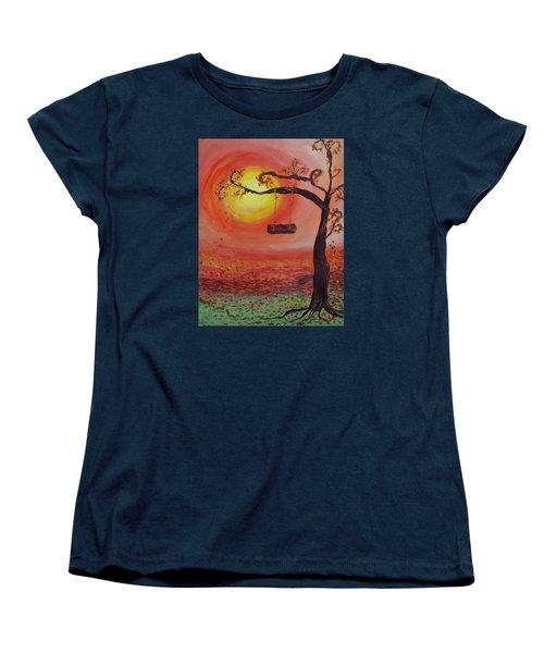 Swing Into Autumn Women's T-Shirt (Standard Cut) by Barbara McDevitt