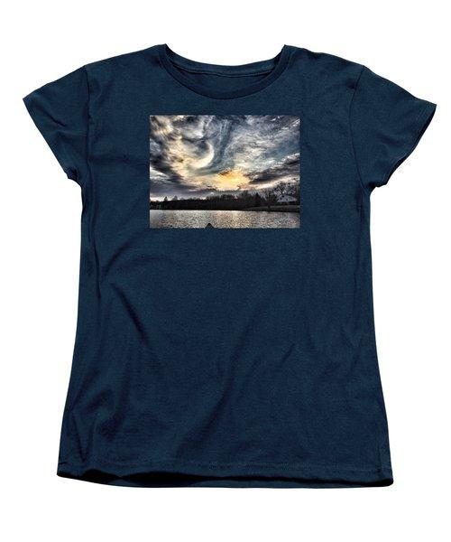 Swirl Sky Sunset Women's T-Shirt (Standard Cut) by Jason Nicholas