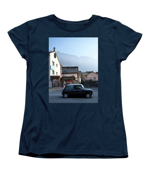 Women's T-Shirt (Standard Cut) featuring the photograph Swiss Mini by Christin Brodie