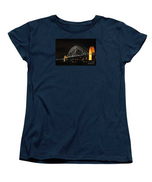 Sydney Harbor Bridge At Night Women's T-Shirt (Standard Cut) by Bev Conover