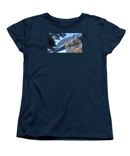 Women's T-Shirt (Standard Cut) featuring the photograph Sydney Harbor Bridge by Bev Conover