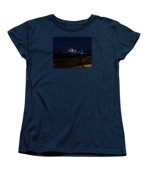 Sydney Opera House At Night Women's T-Shirt (Standard Cut) by Bev Conover