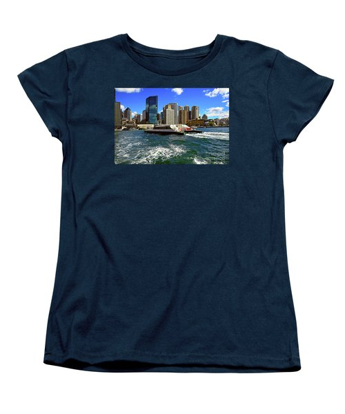 Sydney Skyline From Harbor By Kaye Menner Women's T-Shirt (Standard Cut) by Kaye Menner