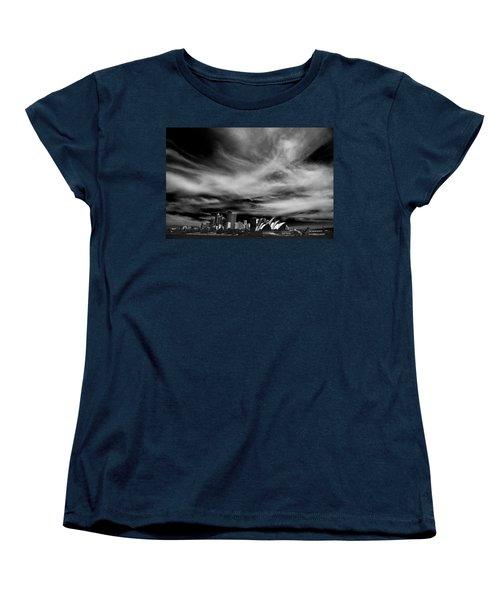 Sydney Skyline With Dramatic Sky Women's T-Shirt (Standard Cut) by Avalon Fine Art Photography