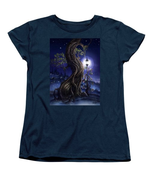 Sylvia And Her Lamp At Dusk Women's T-Shirt (Standard Cut) by Curtiss Shaffer