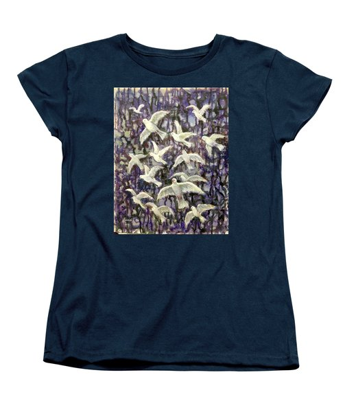 Women's T-Shirt (Standard Cut) featuring the painting Symbol  Of Peace by Laila Awad Jamaleldin