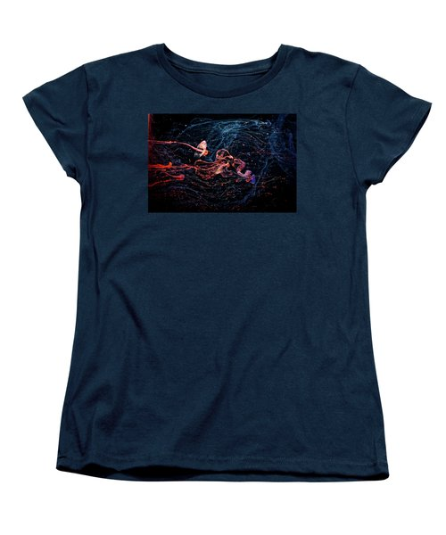 Symphony - Abstract Photography - Paint Pouring Women's T-Shirt (Standard Cut) by Modern Art Prints