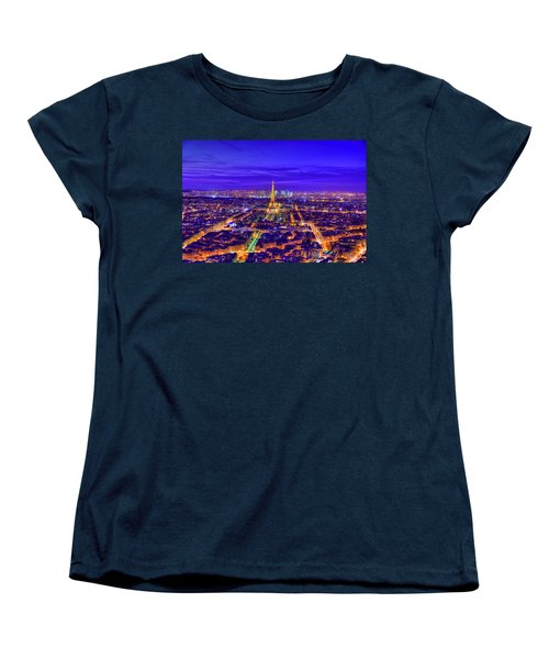 Symphony In Blue Women's T-Shirt (Standard Cut) by Midori Chan