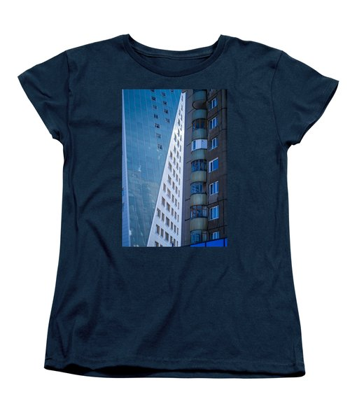 Women's T-Shirt (Standard Cut) featuring the photograph Synergy Between Old And New Apartments by John Williams