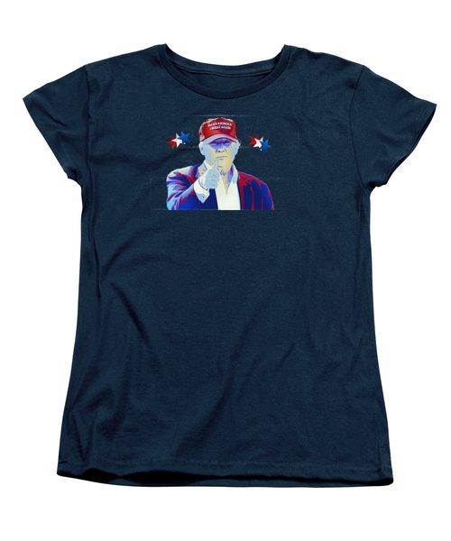 T R U M P Donald Trump Women's T-Shirt (Standard Cut) by Mr Freedom