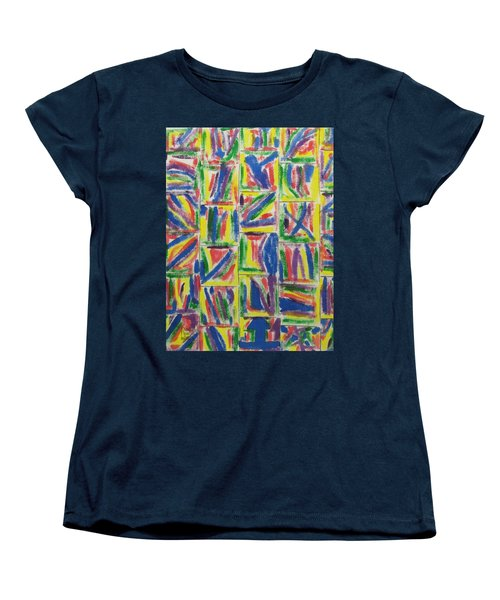 Women's T-Shirt (Standard Cut) featuring the painting Artwork On T-shirt - 009 by Mudiama Kammoh