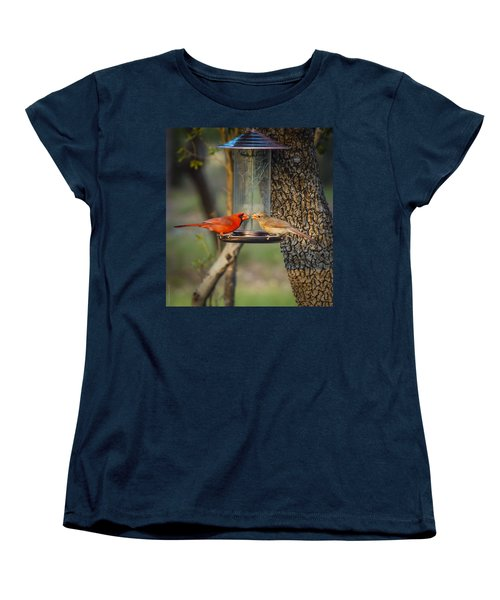Women's T-Shirt (Standard Cut) featuring the photograph Table For Two by Debbie Karnes
